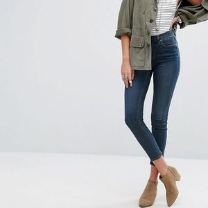 Free People High Rise Roller Skinny Jeans Size 25